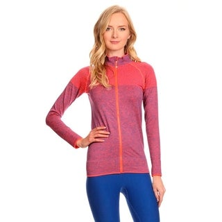 Ultra Light Weight Seamless Active Living Pink Nylon Running Jacket