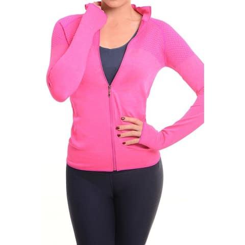 Active Living Pink Ultra-lightweight Seamless Running Jacket