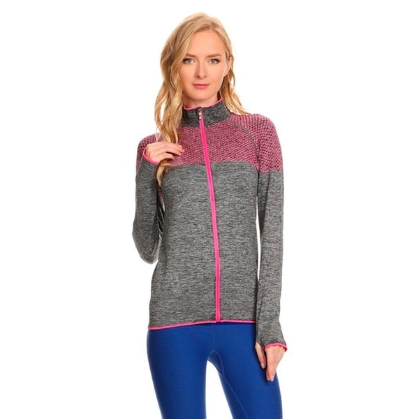 Ultra Lightweight Seamless Active Living Grey Running Jacket