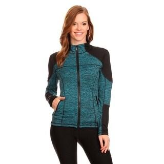 Women's Blue Active Wear Zip-up Jacket