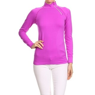 Women's Purple Nylon and Spandex Tight-fit Performance Active Sport Running Jacket