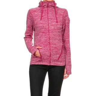 Seamless Performance-style Sports Jacket With Hoodie (Option: Red)