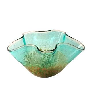 Pangai Turquoise Glass Vase