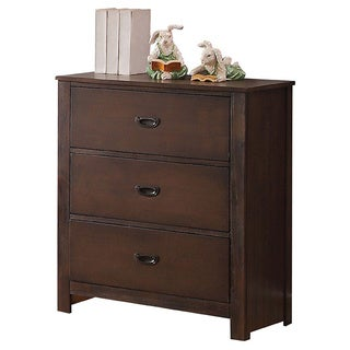 Acme Furniture Hector Antique Charcoal Brown 3-Drawer Chest