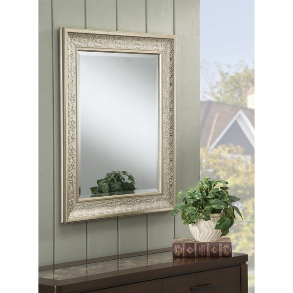 shop sandberg furniture peyton 36 x 30 inch wall mirror silver