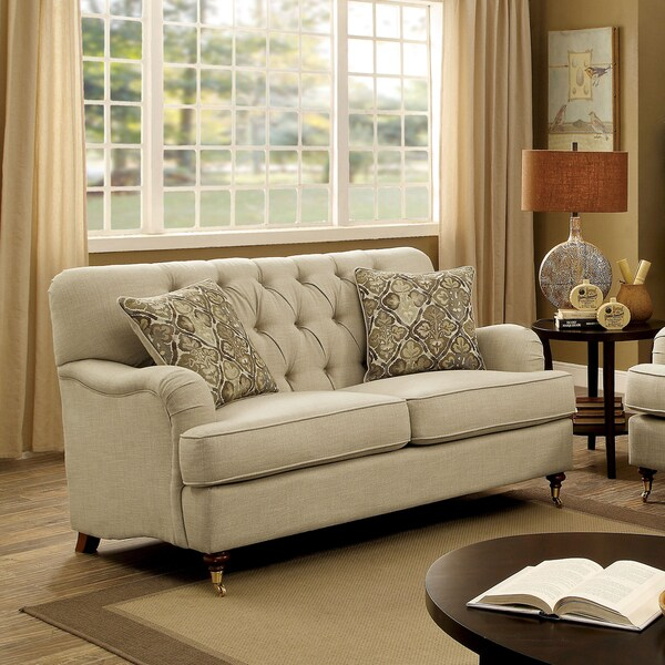 Shop Furniture Of America Moor Transitional Beige Fabric