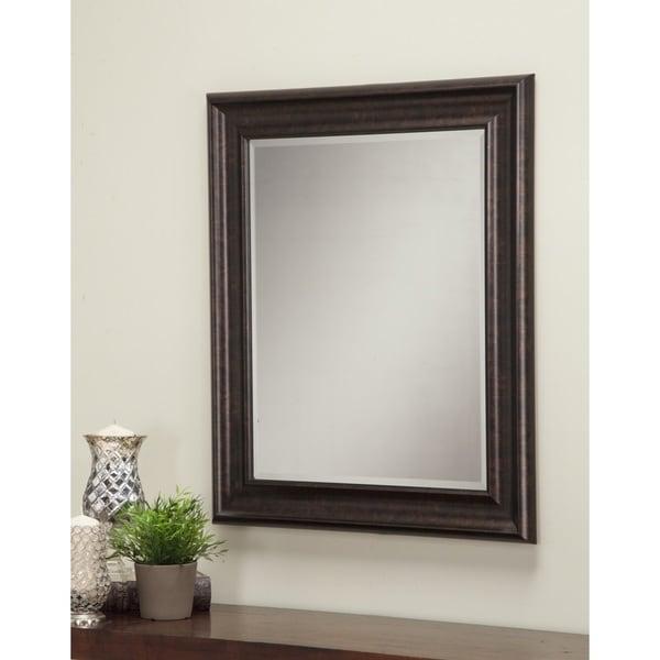 Shop Sandberg Furniture Oil-rubbed Bronze 36 x 30-inch Wall Mirror ...