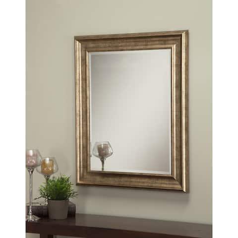 Sandberg Furniture Antique Gold 36 x 30-inch Wall Mirror - Antique Gold - A/N