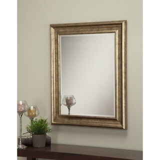 Sandberg Furniture Antique Gold 36 x 30-inch Wall Mirror - Antique Gold