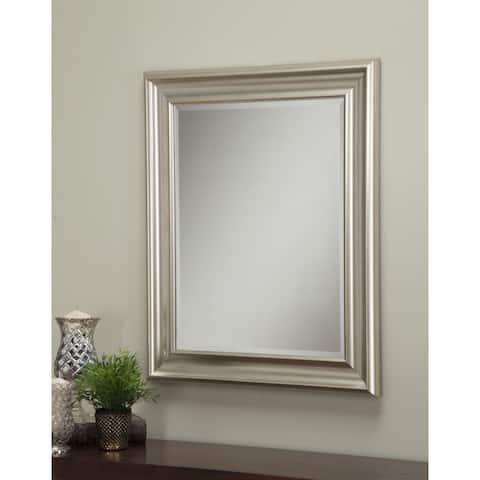Sandberg Furniture Champagne Silver 36 x 30-inch Wall Mirror - Champagne/Silver - A/N