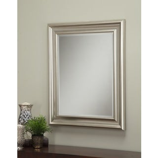 Sandberg Furniture Champagne Silver 36 x 30-inch Wall Mirror