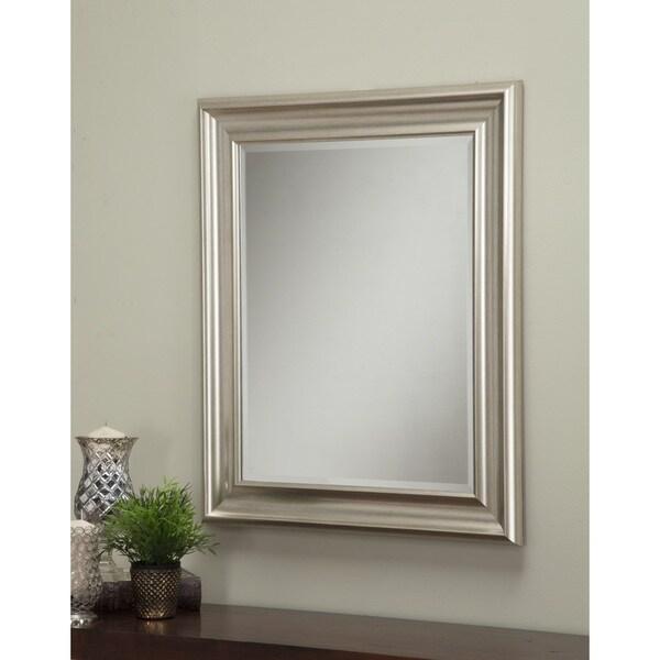 Sandberg Furniture Champagne Silver 36 X 30 Inch Wall Mirror