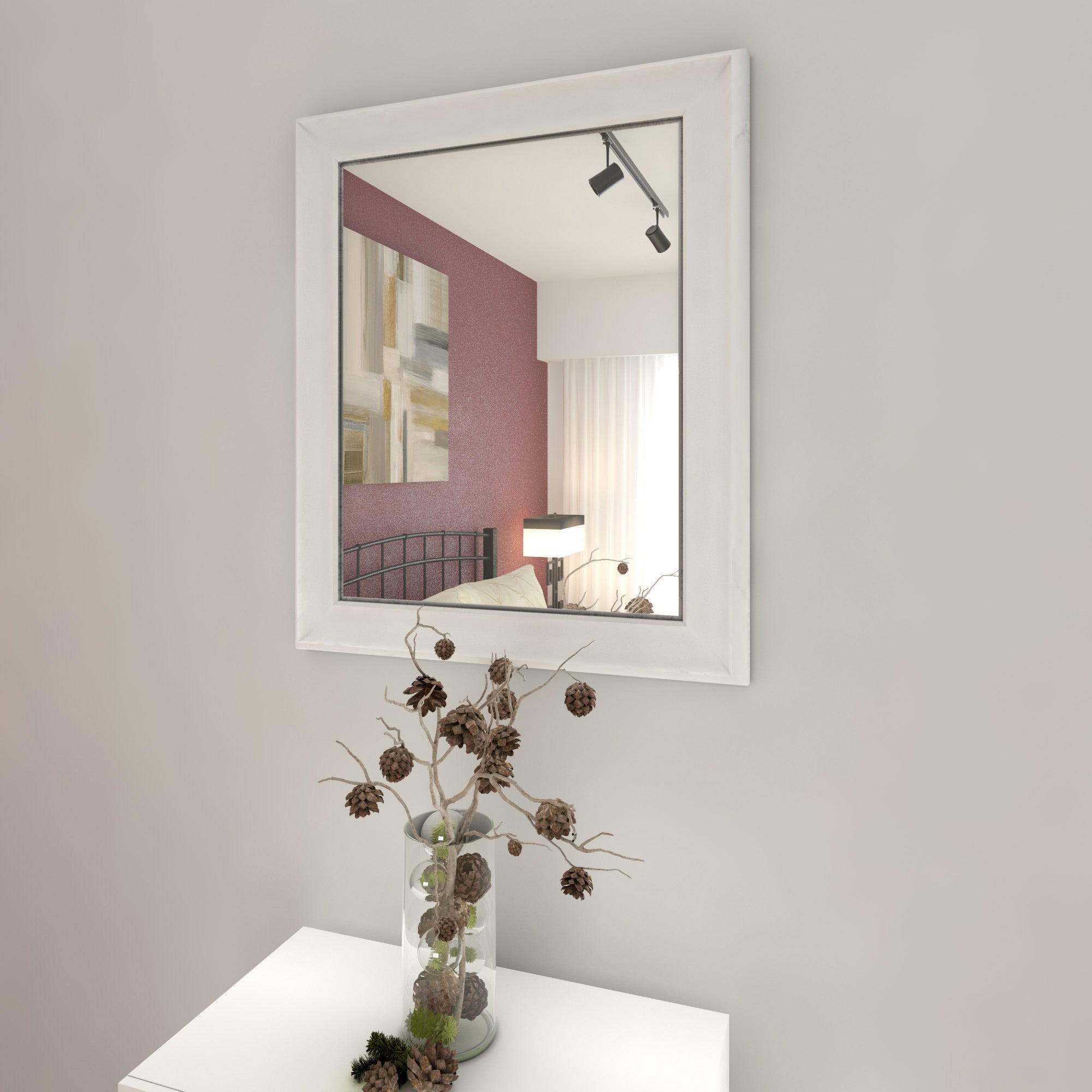 Homeland enderly white 36 x 30 inch wall mirror free shipping on homeland enderly white 36 x 30 inch wall mirror amipublicfo Choice Image