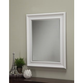 Homeland Enderly White 36 x 30-inch Wall Mirror