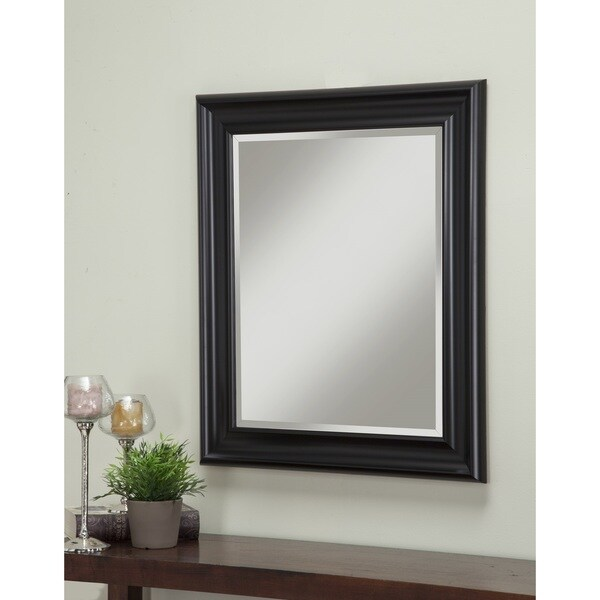 Sandberg Furniture Black 36 X 30 Inch Wall Mirror