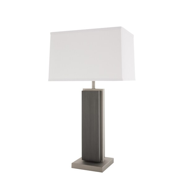 Nova Lighting Charcoal Grey Bounded Table Lamp
