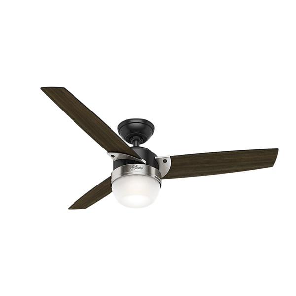 Shop Hunter Fan Flare Matte Blackbrushed Nickel 48 Inch Ceiling Fan