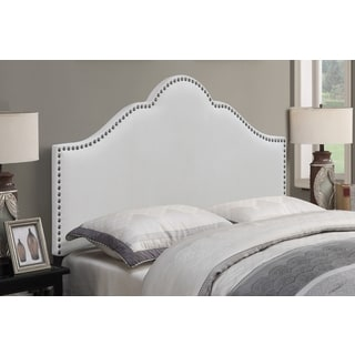Baylie Ivory Arched Full/Queen Upholstered Head Board by Greyson Living