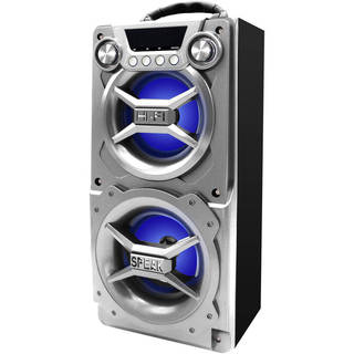 Sylvania Silver Bluetooth Internal Battery, Speakerphone, and USB Charging Speaker