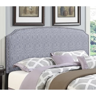 Shelby Pattern Grey Full/Queen Upholstered Head Board by Greyson Living