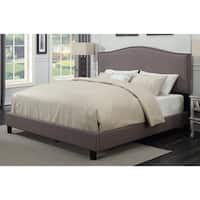 Sheffield Taupe Upholstered Bed by Greyson Living