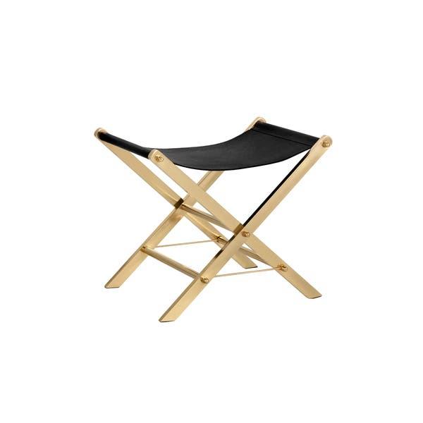 Pleasing Shop Sunpan Ryder Brass Shagreen Print Leather Stool On Inzonedesignstudio Interior Chair Design Inzonedesignstudiocom
