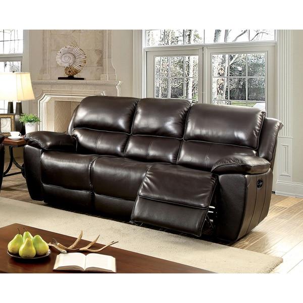 Ashley Furniture Danville Va: Shop Furniture Of America Clemin Top Grain Leather Match