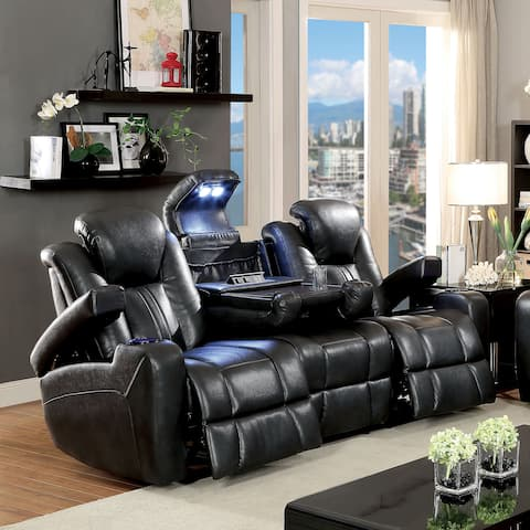 Serafin Contemporary Dark Grey Power-Assisted Reclining Sofa by FOA