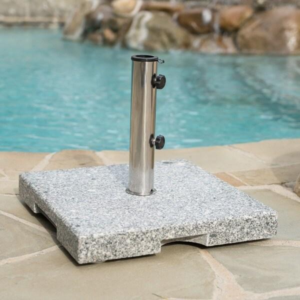 Shop Mojave 60 Pound Square Grey Granite Umbrella Base