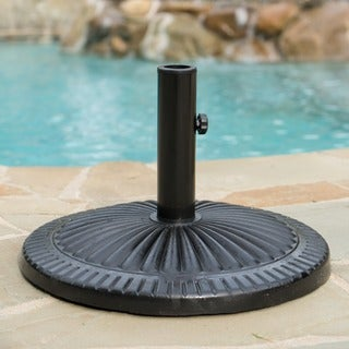 Syros 25-pound Round Black Steel Umbrella Base Holder by Christopher Knight Home