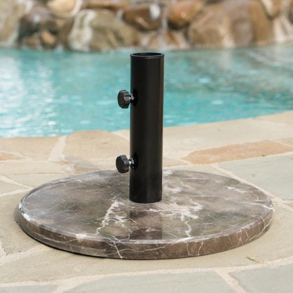 Dunes 30-pound Round Granite Umbrella Base Holder by Christopher Knight Home