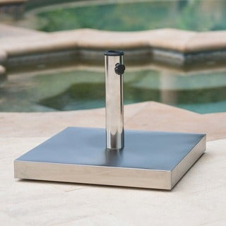 Norco Outdoor 65-pound Square Stainless Steel Umbrella Base Holder by Christopher Knight Home