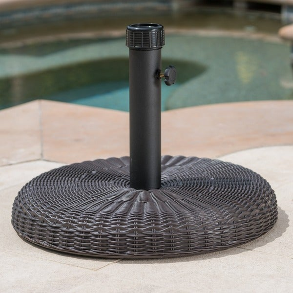 Bahulu Outdoor 45-pound Brown Round Umbrella Base Holder by Christopher Knight Home