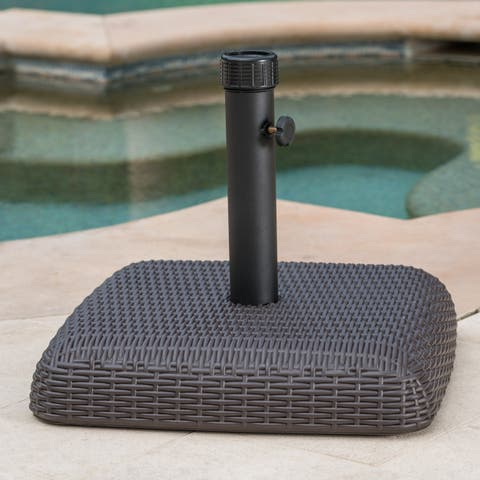 Bahulu Outdoor 65-pound Brown Square Umbrella Base Holder by Christopher Knight Home