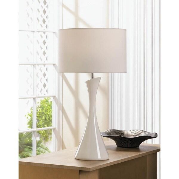 Verdigo Unique White Slender Table Lamp