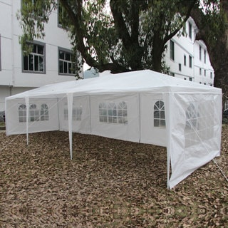 Five-sided Party Wedding Outdoor White Waterproof 9'9 x 29'6 Foldable Tent