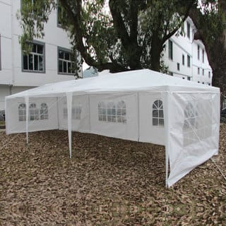 Five-sided Party Wedding Outdoor White Waterproof 9'9 x 29'6 Foldable Tent|https://ak1.ostkcdn.com/images/products/14567518/P21115919.jpg?impolicy=medium
