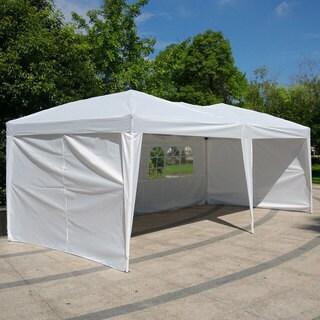 Two Windows Practical Waterproof Folding Tent 3 x 6m - White
