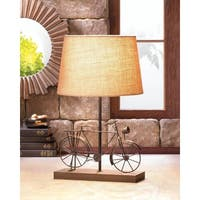 Antique Bicycle Wood Based Table Lamp