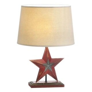 Texes Style Wood-Base Table Lamp