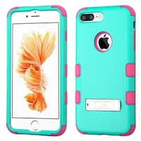 Insten Hard PC/ Silicone Dual Layer Hybrid Rubberized Matte Case Cover with Stand For Apple iPhone 7 Plus