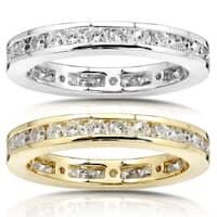 Annello by Kobelli 14k Gold 1ct TDW Round Diamond Channel Set Eternity Wedding Ring - White G-H
