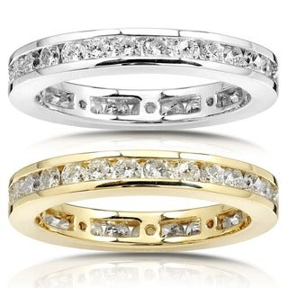 Annello 14k Gold 1ct Diamond Channel Set Eternity Ring