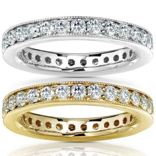 Annello by Kobelli 14k Gold 1ct TDW Round Diamond Eternity Band (G-H, I1-I2)