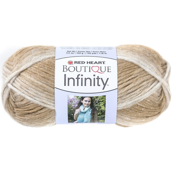 Red Heart Boutique Infinity Yarn-Almond