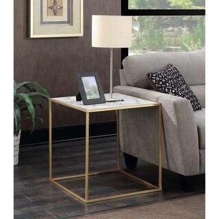 Convenience Concepts Gold Coast Faux Marble End Table