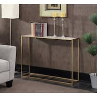 Convenience Concepts Gold Coast Faux Marble/Metal Console Table