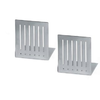 Pewter Finish Large Rectangle Bookends (Set of 2)