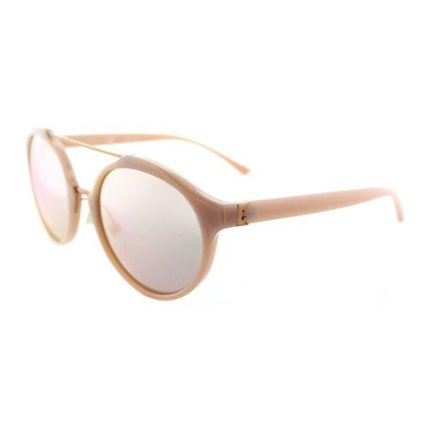 84f038c9b2 Tory Burch TY 9048 1624R5 Blush Rose Gold Plastic Round Sunglasses Rose Gold  Mirror Lens