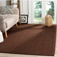 Safavieh Natural Fiber Sisal Chocolate / Dark Brown Area Rug - 4' x 6'